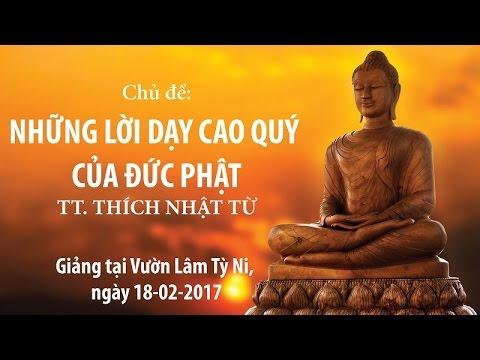 Những lời dạy cao quý của Đức Phật