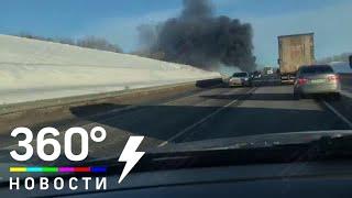 Первое видео массового ДТП в Воронежской области: 7 человек погибли