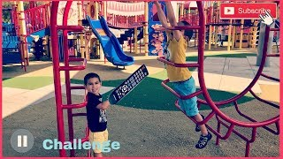 PAUSE CHALLENGE BRO VS BRO   scared of heights   A&D BROTHERS