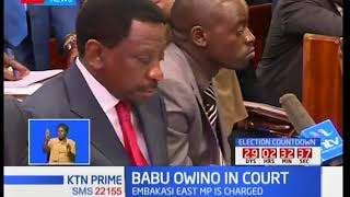 Embakasi East MP Paul 'Babu' Ongili spends the night in court after being charged with subversion