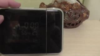 Часы с проектором на Алиэкспресс ㋡ цветной электронный календарь DS-8190