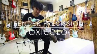 Gitar Bass Fender Precision 4 String Surfblue Customized vintage