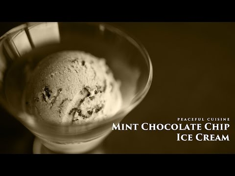 Video [No Music] How to make Mint Chocolate Chip Ice Cream