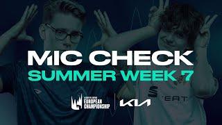 LEC : le Mic Check de la semaine 7 du Summer Split 2021