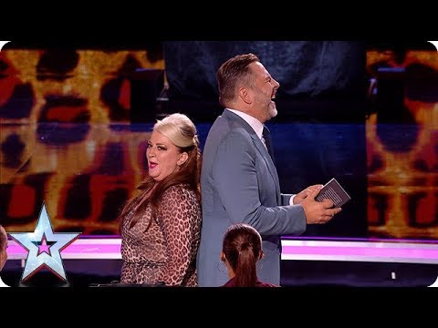 HILARIOUS Mandy Muden brings her bag of magic tricks to the Semi's! | Semi-Finals | BGT 2018 (видео)