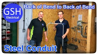 Step by Step Guide on How to Bend Steel Conduit Back of Bend to Back of Bend (AM2 AM2s)