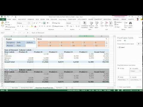 Display data from the grand total column of  pivot table on stacked chart also rh ashishmathur