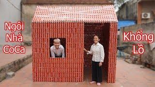 Hưng Vlog | Làm Ngôi Nhà Coca Cola Khổng Lồ Từ 5000 Lon Coca Tặng Mẹ | build a house with 5000 coca