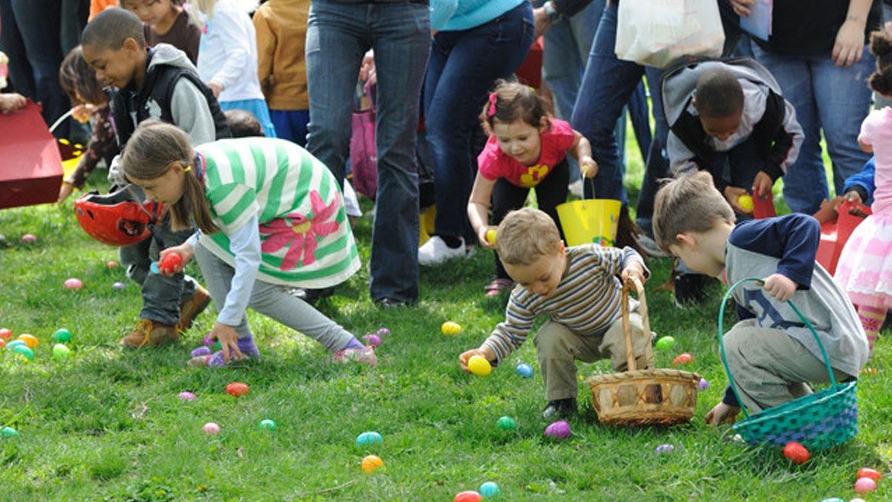 Adults Trample Children For Easter Egg Hunt thumbnail