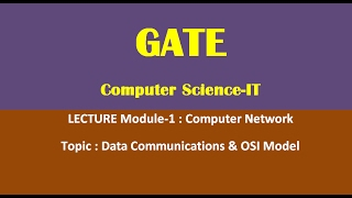 Computer Network Lecture for GATE CSE-IT