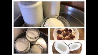 Kokosmilch, Kokossahne, Kokosjoghurt einfach und günstig selber machen