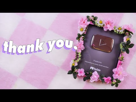 ♡ SILVER PLAYBUTTON UNBOXING (and making it cute) ♡