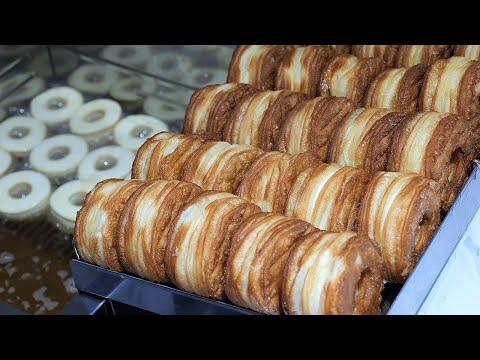Handmade Cream Bomb Croissant Donuts