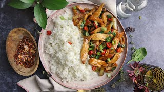 Thai Basil Chicken by Laura in the Kitchen