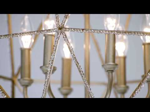 Video for Marquise Burnished Silver Six-Light Chandelier