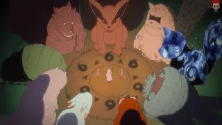 Naruto uses up the last of His Chakra trying to free the Tailed Beasts from Madara's control