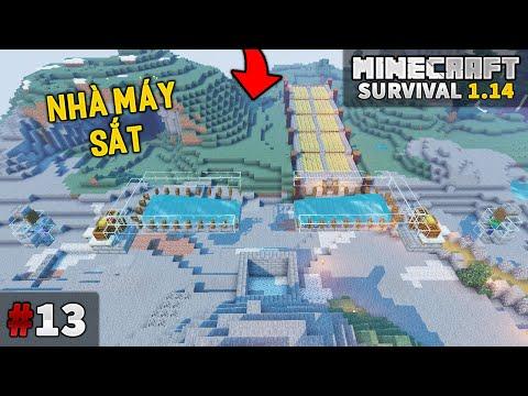 THỬ THÁCH SINH TỒN MINECRAFT 1.14 | Tập 13 | Xây Dựng Nhà Máy Sắt Trên Không | MK Minecraft