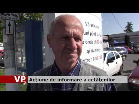 Acţiune de informare a cetăţenilor