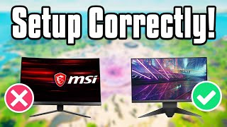 How To *CORRECTLY* SETUP Your 144Hz or 240Hz Gaming Monitor! (Fortnite Battle Royale)