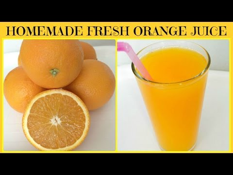 Video Homemade Freshly Squeezed Orange Juice