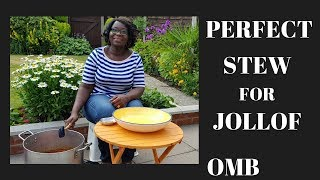HOW TO PREPARE JOLLOF RICE STEW BASE: Cooking In The Garden With Mama Betty - EP2