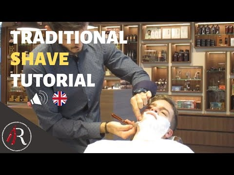 Shave Tutorial   Learn how to shave Like a Barber (English spoken)