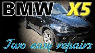BMW X5. Two easy repairs. Два легких ремонта.