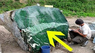 Man That Dug Up An 800 Pound Emerald Had To Go Underground Out Of Fear For His Life