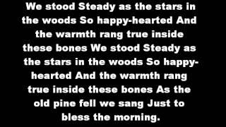 Ben Howard Old Pine Lyrics On Screen