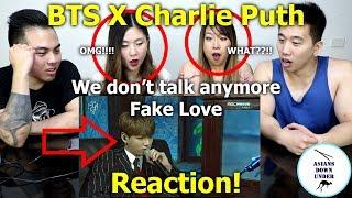 BTS x Charlie Puth || We don't talk any more + Fake Love (MGA 2018) | Reaction - Australian Asians