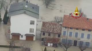 Aerial Footage Shows Extent of Flooding in Lentigione, Italy