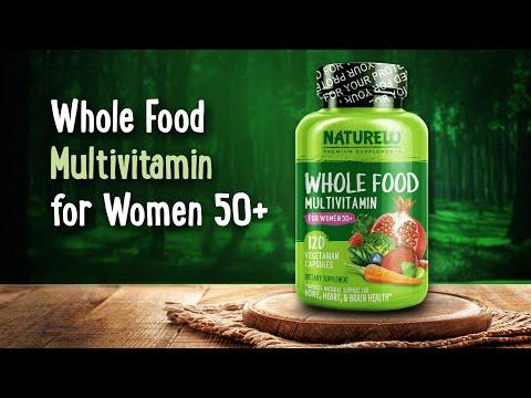NATURELO, 50+ 女性專用全食多維生素素食膠囊,120 粒