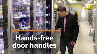 Hands-free Door Handles Tested In Finnish Supermarket