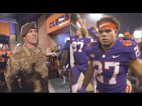Clemson Football || Father returns from Afghanistan to surprise son before a game