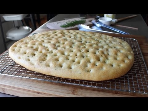 Focaccia Recipe – Italian Flat Bread with Rosemary and Sea Salt