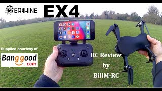 Eachine EX4 review - GPS 5G WIFI FPV with 4K HD Camera 3 Axis Stable Gimbal