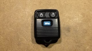 Inside A Ford Transit Keyfob Remote.  (and Pairing It)