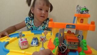Поли робокар игрушки видео распаковка набор Robocar poli toy video unboxing set