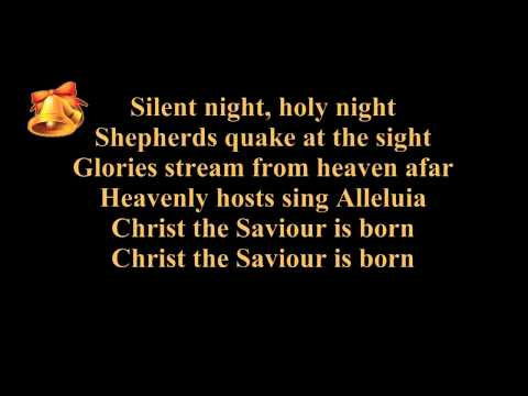 Silent night lyrics (karaoke) – instrumental music – piano and strings – Christmas song / carol