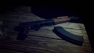 DracoC AK47 Pistol 30 Round Nighttime Mag Dump