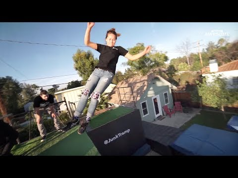 Secret Backyard Trampoline Wall! | Unseen Awesome