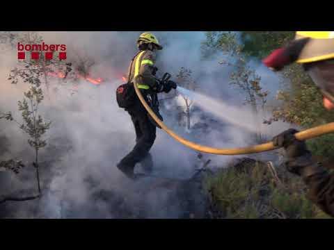 Incendi forestal a Vilopriu (Baix Empordà)