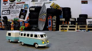 VW T1 RC Samba Bus with trailer 1:87 Scale