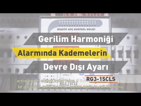 RG3-15 CLS - Gerilim Harmoniği Alarmında Kademelerin Devre Dışı Bırakılıp Bırakılamayacağı Ayarı