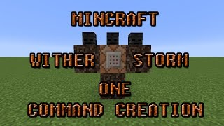 Gambar cover Minecraft One Command Creation The Wither Storm Boss Fight!!!!!