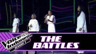 """Jeni & Joni Vs Angel Vs Vari """"Perfect...""""   Battle Rounds   The Voice Kids Indonesia Season 3 GTV"""