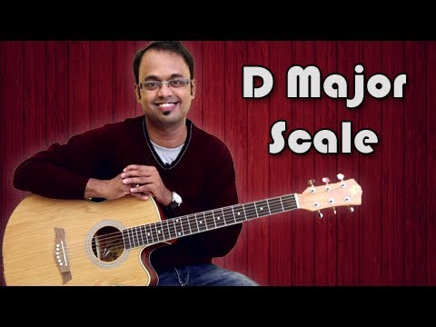 How To Play - D Major Scale - Guitar Lesson For Beginners