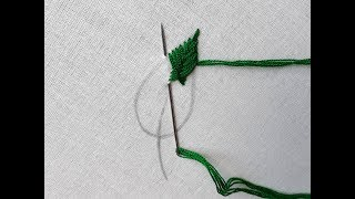 Hand Embroidery Fishbone Leaf Stitch | Fishbone Stitch Tutorial