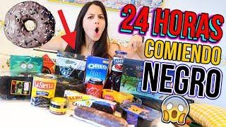 24 HORAS COMIENDO NEGRO - All Day Eating Black Food NATALIA