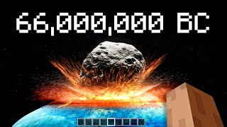 earth's history portrayed in minecraft